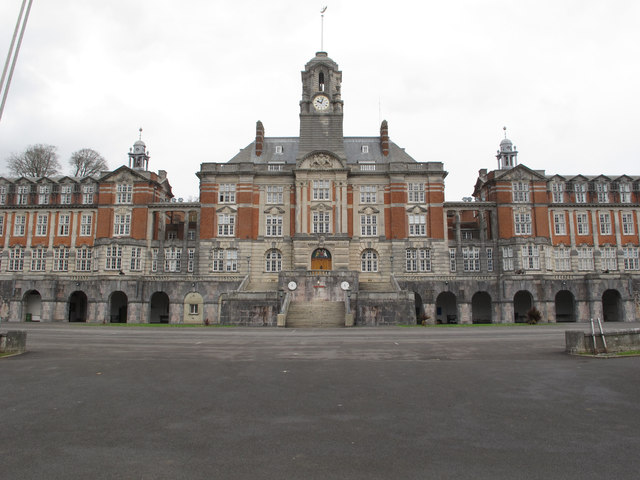 Central facade and clock tower, Britannia Royal Naval College