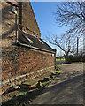 TL5184 : Little Downham: ancient brickwork at Tower Farm by John Sutton