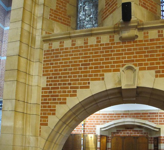 Brickwork in chapel, Britannia Royal Naval College