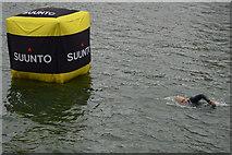 TQ4180 : Approaching a buoy by N Chadwick