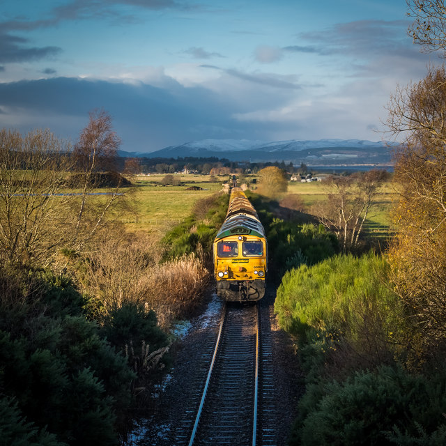 Empty train bound for Millerhill