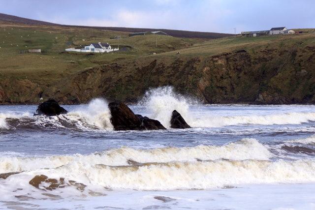 Waves at Stabba, Burrafirth