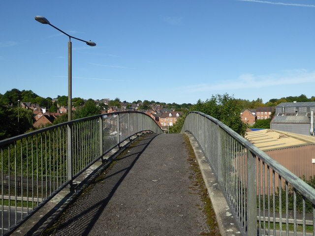Footbridge over the A61, Chesterfield
