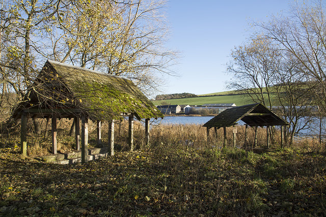 Old boat houses at Yetholm Loch