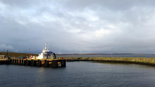 MV Geira at Hamars Ness, Fetlar