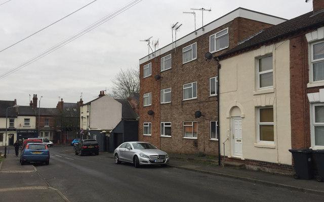 Lower west side of Hill Street, Emscote, Warwick