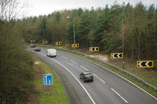 M23 slip road, Merstham Interchange