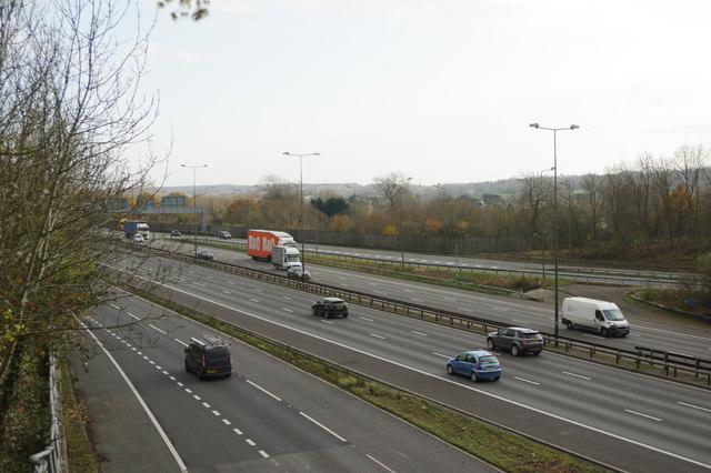 M25 east of the Merstham Interchange