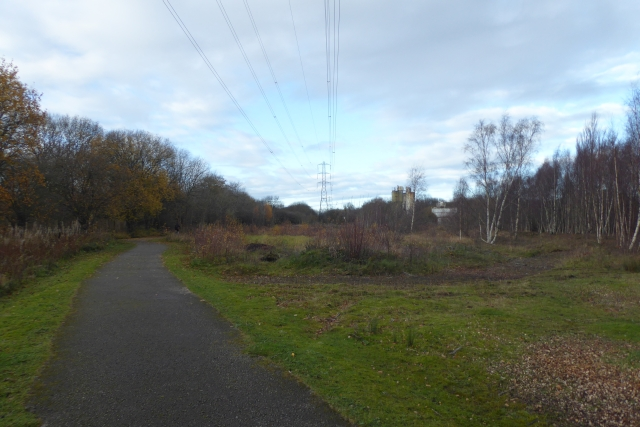 Cycle path under powerlines