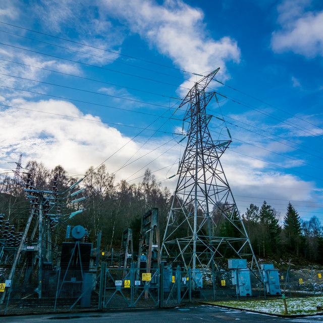 Pylon at Tummel Bridge Power Station