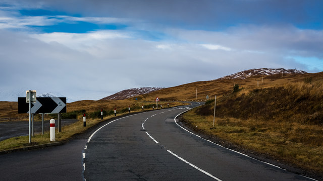 A82 climbing up on to Rannoch Moor