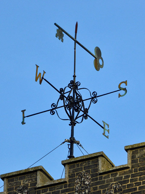 Weather vane, Church of St Mary-at-the-Quay, Ipswich