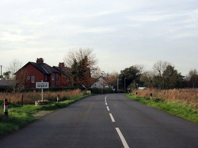Preston Road into Inskip