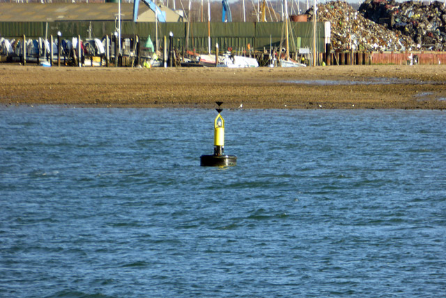 Buoy at approach to Brightlingsea Harbour