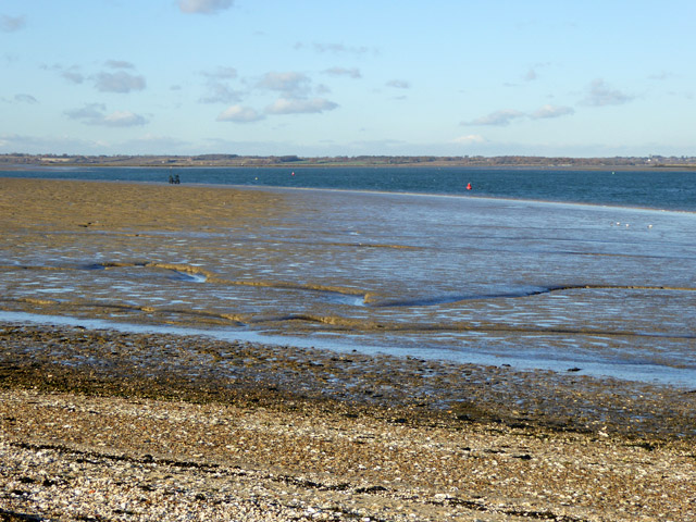 Mudflats up river from Mersea Stone