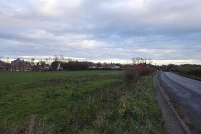 A659 next to housing development