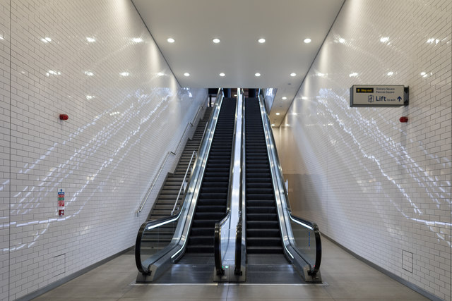 Escalator at King's Cross Station, London