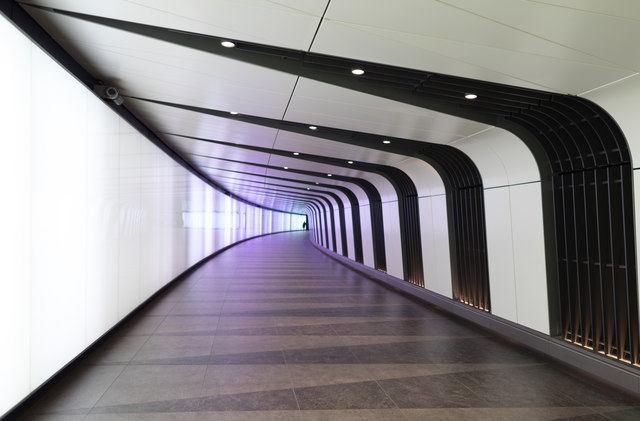 Exit Tunnel at King's Cross Station, London