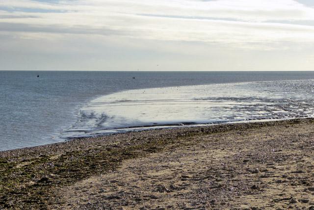 Mudflats seaward of Mersey Stone