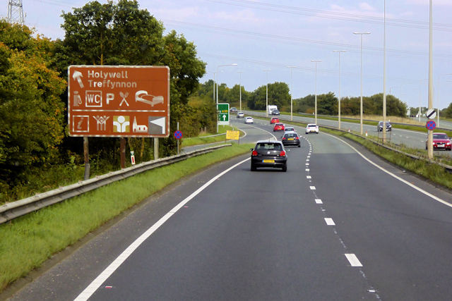 North Wales Expressway near to Pentre Halkyn