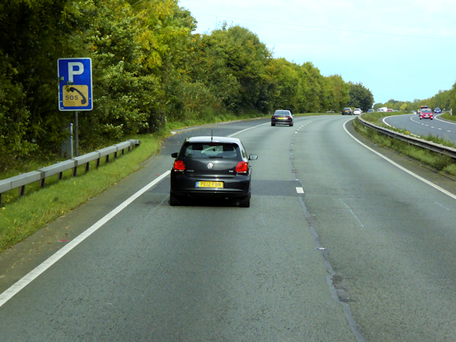 Layby on the Westbound A55 near Milwr