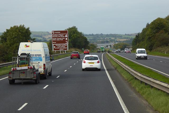 North Wales Expressway near to Gorsedd