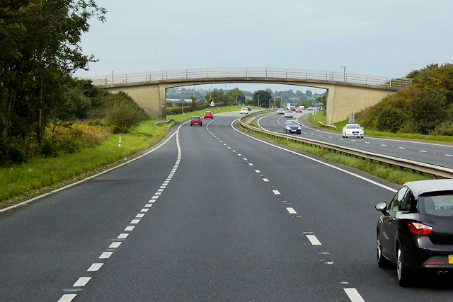 Footbridge over the North Wales Expressway near to Pen-y-Cefn