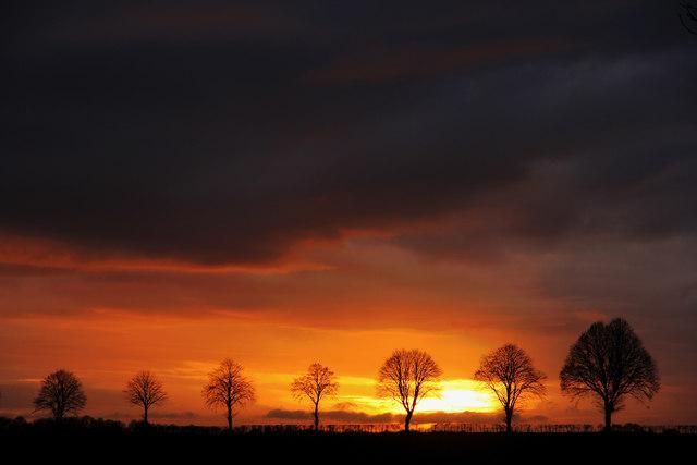 Welton Heath sunset