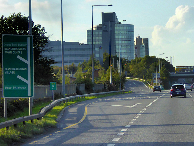Exit from N3 at Junction 2 (Blanchardstown)