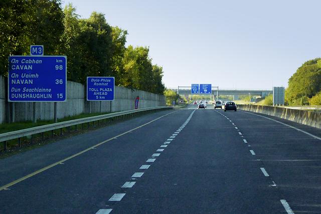 Northbound M3 Motorway near Clonee