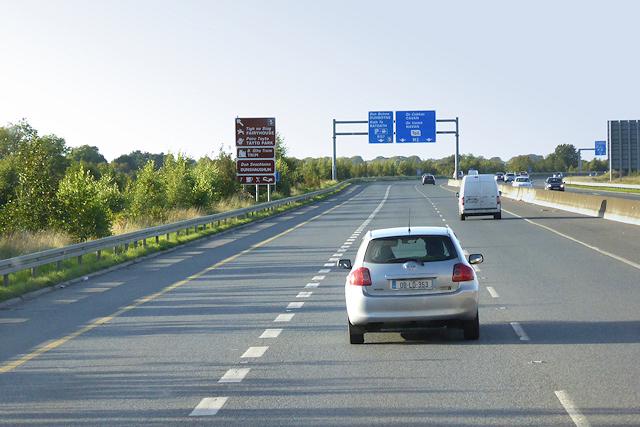 M3 motorway near Bracetown Business Park