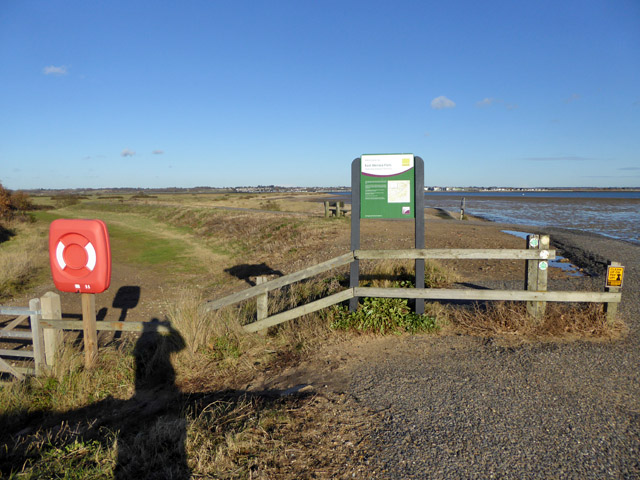 East Mersea Flats NNR sign