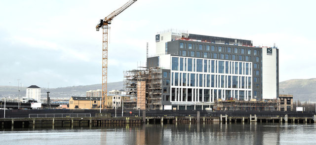 The City Quays hotel site, Belfast - December 2017(1)