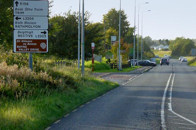 R154, Scurlockstown Crossroads