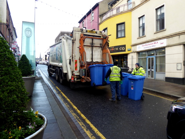 Blue bin collection, Omagh