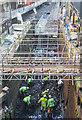 SJ8397 : Canal Cleaning, Deansgate Locks, Manchester by Matt Harrop