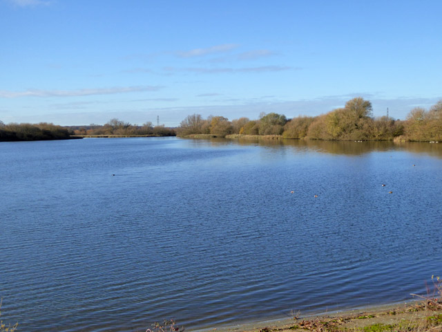 Abberton reservoir, west end