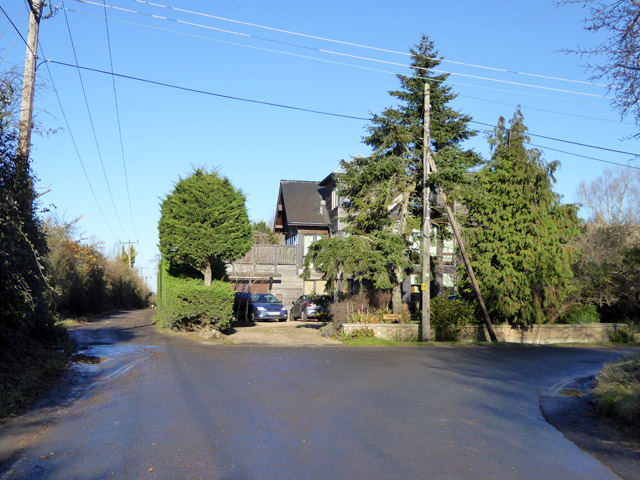 Bend on East Road, East Mersea