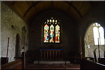 SX4249 : Church of St Germanus - stained glass window by N Chadwick
