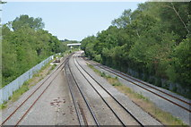 SP4909 : Railway line by N Chadwick