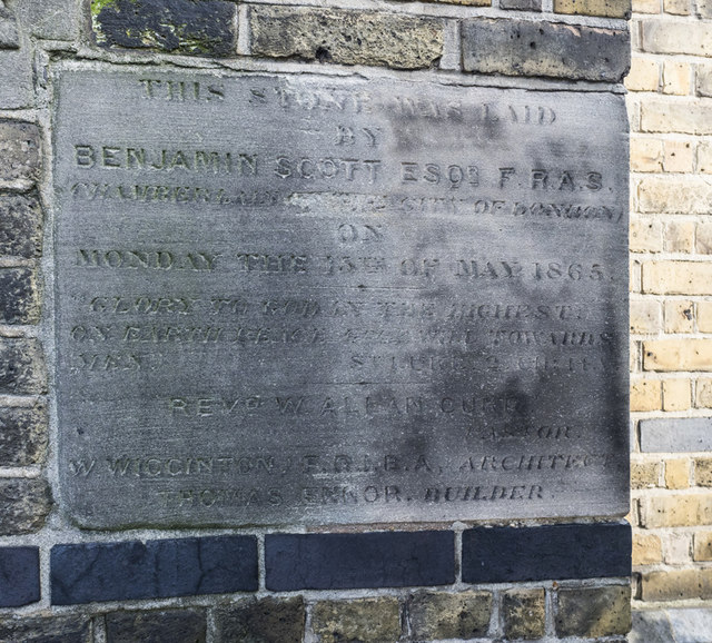 St Barnabas, Grove Road, Bethnal Green - Foundation stone