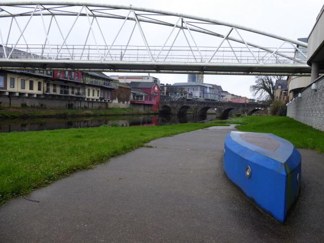 Blue concrete boat, Omagh