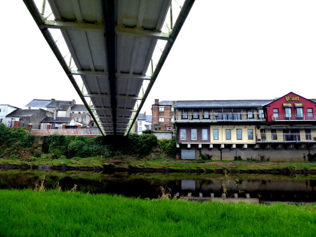 Under a footbridge on the Strule River, Omagh