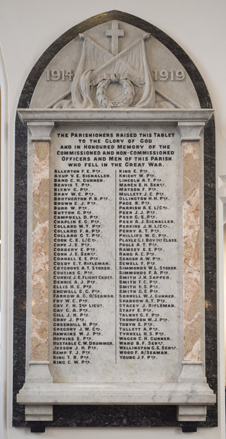 St Peter & St Paul, Church Lane, Dagenham - War Memorial WWI