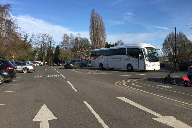 Coach and car parking, St Nicholas Park, Warwick