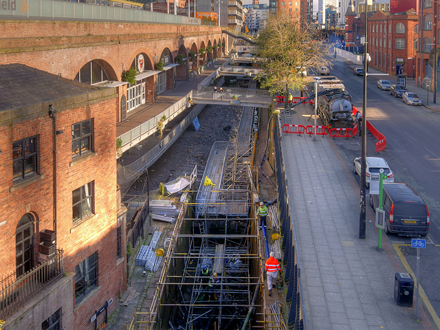 Deansgate Locks Restoration Work