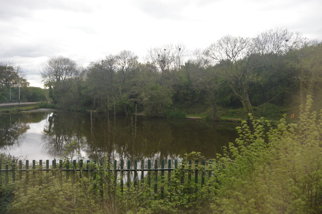 Lake north of Tiverton Parkway Station