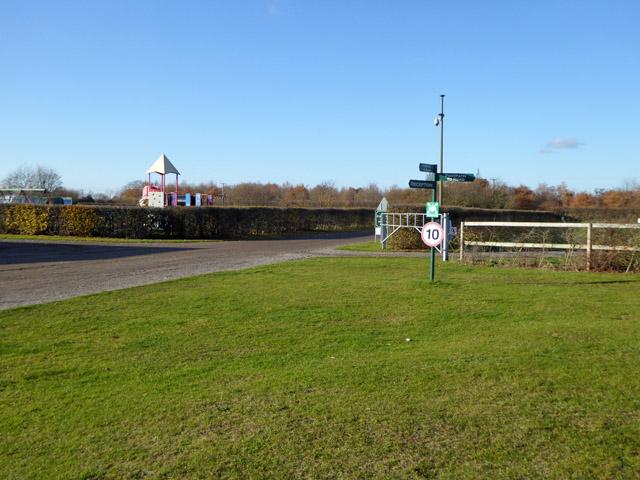 Signpost at Fen Farm caravan and camping site