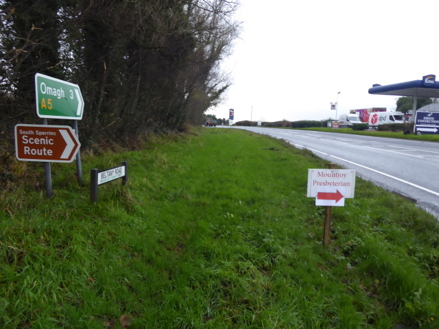Signs along Derry Road