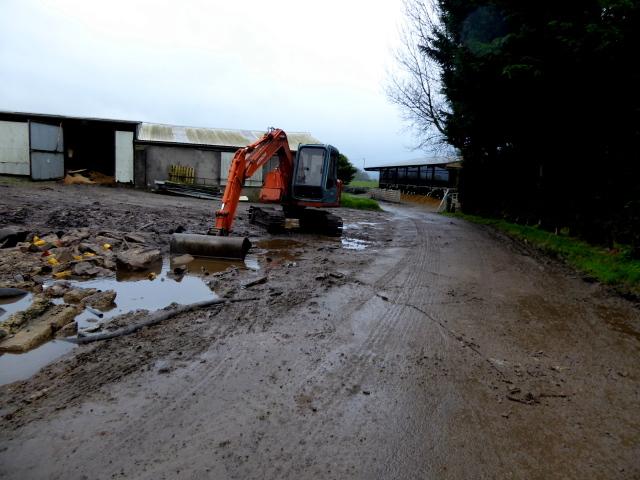 A muddy road, Tattraconnaghty